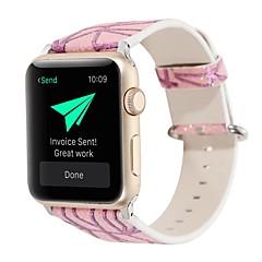 olcso Apple Watch sávok-Nézd Band mert Apple Watch Series 3 / 2 / 1 Apple Bőr hurok Valódi bőr Csuklópánt