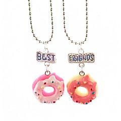 お買い得  ネックレス-女性用 円形 形状 自然 ファッション クール ペンダントネックレス , 樹脂 ペンダントネックレス 誕生日 学校 コスチュームジュエリー