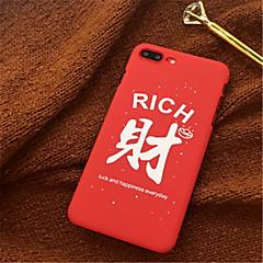 Недорогие Кейсы для iPhone 7-Кейс для Назначение Apple iPhone X / iPhone 7 Plus С узором Кейс на заднюю панель Слова / выражения Твердый Акрил для iPhone X / iPhone 8 Pluss / iPhone 8
