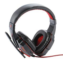 billige Høretelefoner (hovedbøjle)-Plextone PC780 Over øre Pandebånd Ledning Hovedtelefoner Plast Gaming øretelefon Støj-isolering Med Mikrofon Med volumenkontrol Headset