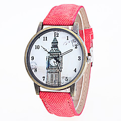 お買い得  レディース腕時計-女性用 クォーツ 中国 カジュアルウォッチ レザー バンド ファッション ブラック 白 ブルー レッド ブラウン グリーン グレー ピンク 黄色
