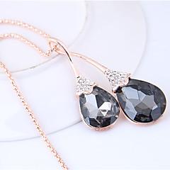 preiswerte Halsketten-Damen Lang Anhängerketten - Tropfen Europäisch, Modisch Grau Modische Halsketten Für Normal