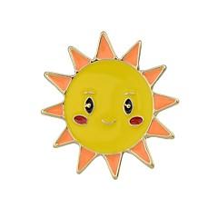 Недорогие Женские украшения-Жен. Броши - Загар и защита от солнца, Облака Классический, Мода Брошь Белый / Желтый Назначение Повседневные / Свидание