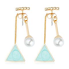 preiswerte Ohrringe-Damen Türkis Geometrisch Tropfen-Ohrringe - Krystall, Künstliche Perle, Harz Kugel Modisch Hellblau Für Hochzeit / Party / Abend