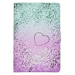 Недорогие Чехлы и кейсы для Galaxy Tab 3 Lite-Кейс для Назначение SSamsung Galaxy Tab E 9.6 Tab A 10.1 (2016) Бумажник для карт со стендом Флип С узором Чехол Градиент цвета Твердый