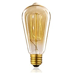 preiswerte LED-Birnen-1pc 40 W E26 / E27 / E27 ST64 Warmes Weiß 2300 k Glühbirne Vintage Edison Glühbirne 220-240 V / 110-130 V