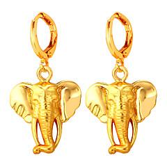 preiswerte Ohrringe-Damen Ohrstecker - vergoldet Einfach, überdimensional Gold Für Party Verabredung