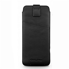 Недорогие Универсальные чехлы и сумочки-Кейс для Назначение Huawei P10 Plus P10 Бумажник для карт Защита от удара Мешочек Сплошной цвет Мягкий Настоящая кожа для P10