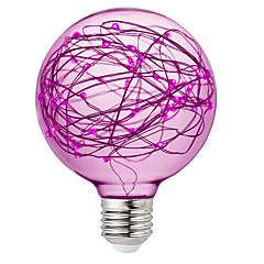 preiswerte LED-Birnen-BRELONG® 1pc 3W 300lm E26 / E27 LED Kugelbirnen 95 LED-Perlen SMD Dekorativ RGB Rosa Gelb 220-240V