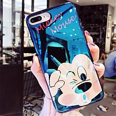 Недорогие Кейсы для iPhone 7 Plus-Кейс для Назначение Apple iPhone X iPhone 7 Plus Покрытие С узором Кейс на заднюю панель Мультипликация Мягкий ТПУ для iPhone X iPhone 8