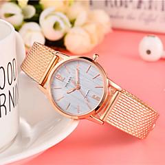 preiswerte Damenuhren-Damen Modeuhr Quartz Schwarz / Rot / Gold Armbanduhren für den Alltag Analog damas Mehrfarbig Minimalistisch - Rose Rot Gold / Weiß