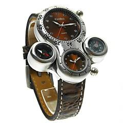 preiswerte Armbanduhren für Paare-Oulm Armbanduhren für den Alltag Sportuhr Modeuhr Sender Armbanduhren für den Alltag Weiß / Schwarz / Braun / Japanisch / Japanisch