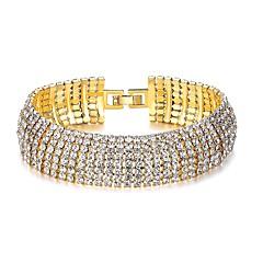 preiswerte Armbänder-Damen Synthetischer Diamant Armband - Diamantimitate Klassisch, Modisch Armbänder Gold Für Party Geschenk
