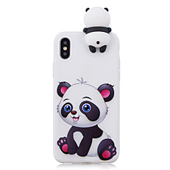 cheap iPhone Cases-Case For Apple iPhone X iPhone 8 Shockproof Pattern DIY Back Cover Panda 3D Cartoon Cartoon Soft TPU for iPhone X iPhone 8 Plus iPhone 8