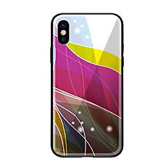 お買い得  iPhone 5S/SE ケース-ケース 用途 Apple iPhone X iPhone 8 パターン バックカバー ライン/ウェイブ ハード 強化ガラス のために iPhone X iPhone 8 Plus iPhone 8 iPhone 7 iPhone 6s Plus iPhone 6s