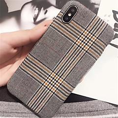 Недорогие Кейсы для iPhone 7 Plus-Кейс для Назначение Apple iPhone X / iPhone 7 Plus С узором Кейс на заднюю панель Полосы / волосы Твердый ПК для iPhone X / iPhone 8 Pluss / iPhone 8