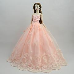 abordables Ropa para Barbies-Vestidos Vestidos por Muñeca Barbie  Rosa Satén/Tul Poliéster / Algodón Vestido por Chica de muñeca de juguete