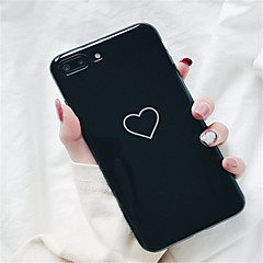 abordables Fundas para iPhone 6s-Funda Para Apple iPhone X / iPhone 7 Plus Diseños Funda Trasera Corazón Suave TPU para iPhone X / iPhone 8 Plus / iPhone 8