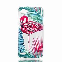Недорогие Чехлы и кейсы для LG-Кейс для Назначение LG V30 / Q6 С узором Кейс на заднюю панель Фламинго Мягкий ТПУ для LG X Style / LG X Power / LG V30