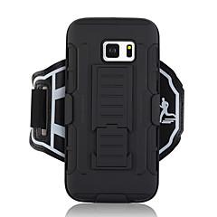 Недорогие Универсальные чехлы и сумочки-Кейс для Назначение SSamsung Galaxy S7 Кошелек С ремешком на руку Сплошной цвет Твердый текстильный для S7