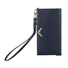 Недорогие Чехлы и кейсы для Sony-Кейс для Назначение Sony Xperia XZ1 Xperia XA1 Бумажник для карт Кошелек со стендом Флип Чехол Сплошной цвет Твердый Кожа PU для Sony