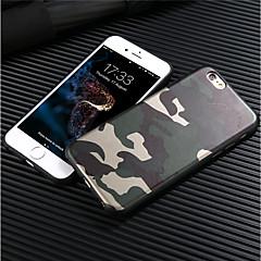 Недорогие Кейсы для iPhone 6-Кейс для Назначение Apple iPhone 8 iPhone 8 Plus Матовое Кейс на заднюю панель Камуфляж Мягкий ТПУ для iPhone X iPhone 8 Pluss iPhone 8