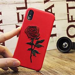 Недорогие Кейсы для iPhone-Кейс для Назначение Apple iPhone X iPhone 7 Plus С узором Рельефный Кейс на заднюю панель Цветы Твердый Кожа PU для iPhone X iPhone 8
