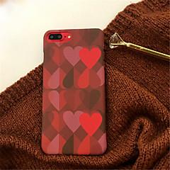 Недорогие Кейсы для iPhone-Кейс для Назначение Apple iPhone X / iPhone 7 Plus С узором Кейс на заднюю панель С сердцем Твердый Акрил для iPhone X / iPhone 8 Pluss / iPhone 8