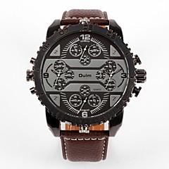 preiswerte Damenuhren-Oulm Herrn / Paar Armbanduhren für den Alltag / Modeuhr Japanisch Armbanduhren für den Alltag Leder Band Luxus / Modisch Schwarz / Braun