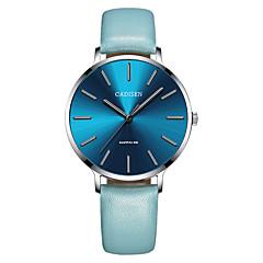 preiswerte Damenuhren-CADISEN Damen damas Armbanduhren für den Alltag Modeuhr Japanisch Quartz 30 m Wasserdicht Armbanduhren für den Alltag Leder Band Analog Modisch Elegant Schwarz / Blau - Schwarz / Grau Navy blau Zwei
