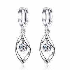 preiswerte Ohrringe-Damen Kubikzirkonia Tropfen-Ohrringe - Blattform Grundlegend, Modisch Silber Für Alltag / Zeremonie