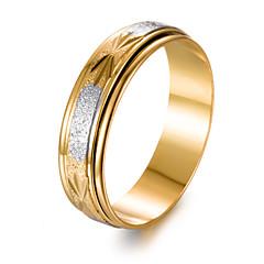abordables Anillos-Hombre Chapado en Oro Anillo de banda - Forma de Círculo Moda Dorado anillo Para Regalo / Enamorado