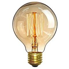 お買い得  LED&照明機器-1個 40W E26/E27 G80 温白色 2200-2700 K レトロ風 調光可能 装飾用 白熱ビンテージエジソン電球 220-240V