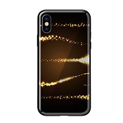 tanie Etui do iPhone-Kılıf Na Apple iPhone X iPhone 8 Wzór Czarne etui Widok miasta Twarde Szkło hartowane na iPhone X iPhone 8 Plus iPhone 8 iPhone 7 iPhone
