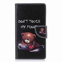 Недорогие Чехлы и кейсы для Sony-Кейс для Назначение Sony Xperia L2 Xperia XA2 Ultra Бумажник для карт Кошелек со стендом Флип С узором Чехол Слова / выражения Твердый