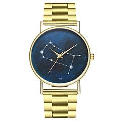 preiswerte Damenuhren-Damen Chronograph Armbanduhren für den Alltag Mond Phase Edelstahl Band Analog Modisch Gold - Gold Ein Jahr Batterielebensdauer / SSUO LR626