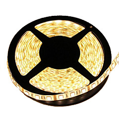 preiswerte LED Lichtstreifen-5m Flexible LED-Leuchtstreifen 300 LEDs 5050 SMD Warmes Weiß Schneidbar / Wasserfest / Verbindbar 12 V / IP65 / Selbstklebend