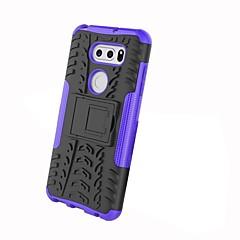 Недорогие Чехлы и кейсы для LG-Кейс для Назначение LG V30 / V20 Защита от удара / со стендом / броня Кейс на заднюю панель Плитка / броня Твердый ПК для LG X Power / LG V30 / LG V20 / LG G6