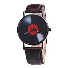 preiswerte Damenuhren-Damen Armbanduhr Chinesisch Chronograph / Kreativ / Großes Ziffernblatt Leder Band Retro Schwarz / Weiß / Rot