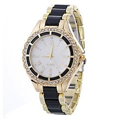 preiswerte Damenuhren-Damen Quartz Kleideruhr Chinesisch Imitation Diamant Armbanduhren für den Alltag Legierung Band Minimalistisch Modisch Schwarz Weiß Blau