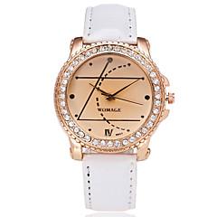 お買い得  レディース腕時計-女性用 クォーツ ダミー ダイアモンド 腕時計 ファッションウォッチ カジュアルウォッチ 中国 模造ダイヤモンド カジュアルウォッチ PU バンド カジュアル ファッション ブラック 白 ブルー レッド ピンク パープル