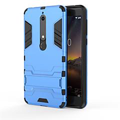 Недорогие Чехлы и кейсы для Nokia-Кейс для Назначение Nokia Nokia 9 Nokia 6 2018 Защита от удара со стендом Кейс на заднюю панель броня Твердый ПК для Nokia 9 Nokia 8