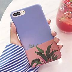Недорогие Кейсы для iPhone-Кейс для Назначение Apple iPhone 6 Plus iPhone 7 Plus Матовое С узором Кейс на заднюю панель Цветы Твердый ПК для iPhone 8 Pluss iPhone 8