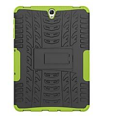 Недорогие Чехлы и кейсы для Galaxy Tab 3 Lite-Кейс для Назначение SSamsung Galaxy Tab A 8.0 (2017) / Tab A 10.1 (2016) Защита от удара / со стендом / броня Кейс на заднюю панель Плитка / броня Твердый ПК для Tab 4 7.0 / Tab 3 Lite / Tab S3 9.7