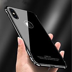 Недорогие Кейсы для iPhone 6 Plus-Кейс для Назначение Apple iPhone X iPhone 8 Защита от удара Зеркальная поверхность броня Кейс на заднюю панель броня Твердый Металл для