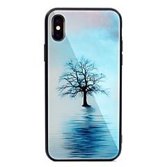 Недорогие Кейсы для iPhone 5-Кейс для Назначение Apple iPhone X iPhone 8 Plus С узором Кейс на заднюю панель дерево Твердый Закаленное стекло для iPhone X iPhone 8