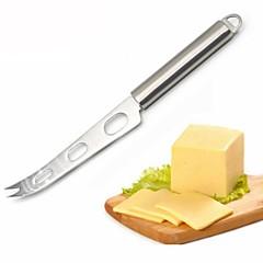お買い得  ベイキング用品&ガジェット-チーズナイフステンレスチーズナイフフォークチップ鋸歯状チーズバターナイフスライサーバターピザカッター