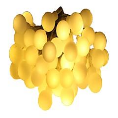 preiswerte LED Lichtstreifen-6m Leuchtgirlanden 40 LEDs Warmes Weiß Mehrfarbig Dekorativ AA-Batterien angetrieben 1pc