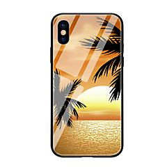 Недорогие Кейсы для iPhone 5-Кейс для Назначение Apple iPhone X iPhone 8 С узором Кейс на заднюю панель дерево Твердый Закаленное стекло для iPhone X iPhone 8 Pluss