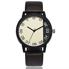 preiswerte Damenuhren-Herrn / Damen Einzigartige kreative Uhr Chinesisch Armbanduhren für den Alltag PU Band Freizeit / Modisch Schwarz / Braun / Grün